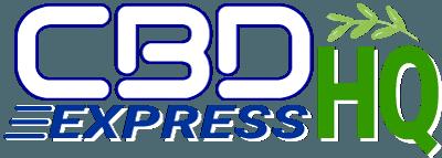 CBDexpressHQ Logo White Outline