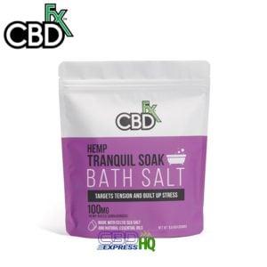 CBDfx CBD Bath Salts Tranquil 100mg