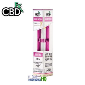 CBDfx CBD Terpenes Vape Pen Sour Diesel 50mg