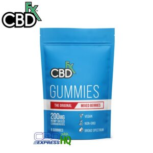 CBDfx CBD Gummies Mixed Berry 8ct Pouch 200mg