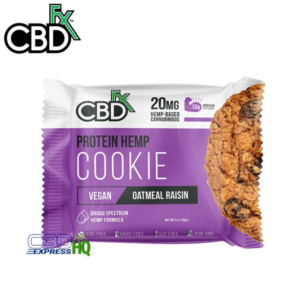 CBDfx CBD Protein Cookie Oatmeal Raisin